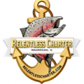 Relentless sport fishing charter Lake Michigan