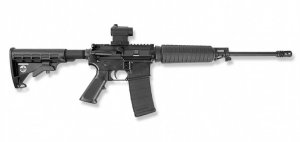 Bushmaster® QRC Quick Response Carbine Semiautomatic Tactical Rifle with Mini Red Dot